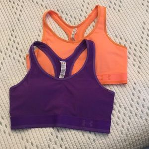 Set of 2 Under Armour Compression fit Sports Bras